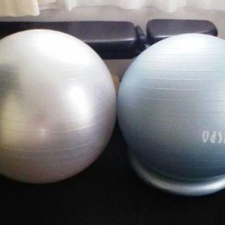 東急オアシス製バランスボール65cmポンプ付きブルー(右)