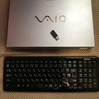 ノートパソコンVAIOとワイヤレスキーボード