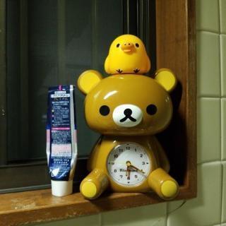 値下げ リラックマ キイロイトリ 目覚まし時計 置き時計