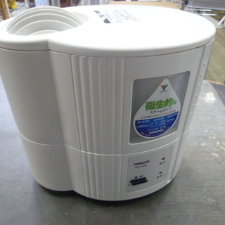 R 中古 山善 スチーム式加湿器 2.5L ホワイト KS-A25...