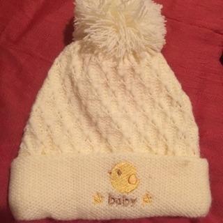 (美品)ベビーのニット帽の画像