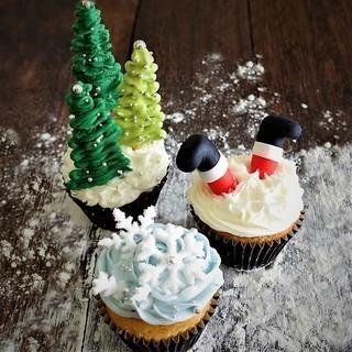 クリスマスのdecoカップケーキ教室@リファイン習志野