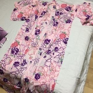 ☆可愛いピンク色の浴衣☆(帯付き) 大人Lサイズ