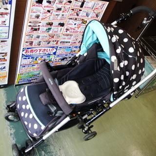 【磐田市見付】 Aprica ベビーカー 黒