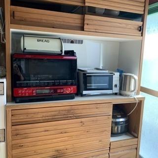 【食器棚 キッチンボード】天然木 ホワイトオーク