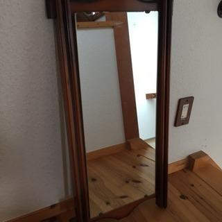レトロ 木枠の鏡