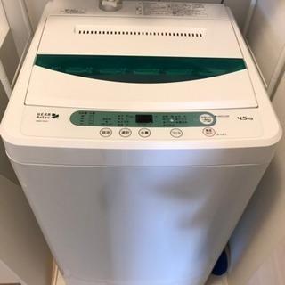 購入一年の洗濯機と、洗濯機用パイプ棚