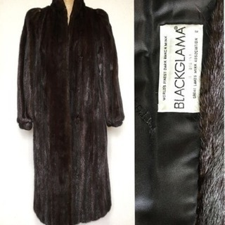 ブラックグラマ ミンクの超ロングコート