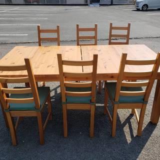 IKEA 拡張式 ダイニングテーブル 6人掛け