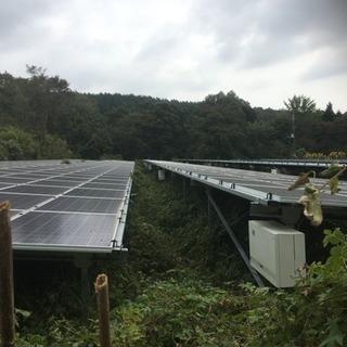 ソーラーパネル周り草刈り作業 バイト募集