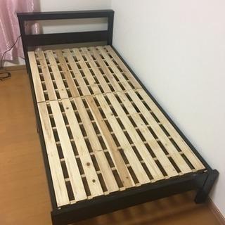 ニトリ シングルベッド  こげ茶
