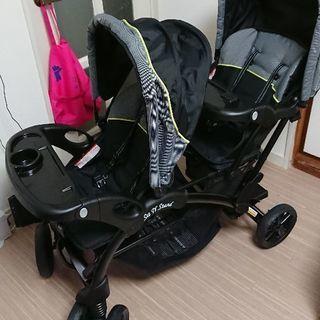 【美品】BabyTrend 2人乗りベビーカー