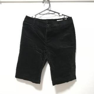 【HusHush】秋・冬用ハーフパンツ 黒