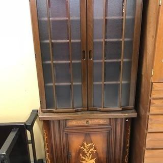 古家具 飾り棚/食器棚