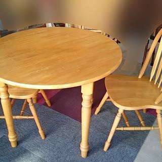 【中古】丸テーブルセット