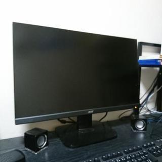 自作ゲーミングパソコン本体、マウス、キーボード、モニター