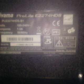21,5型ワイド液晶モニター