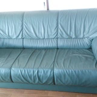 取りに来れる方限定。大塚家具 3人掛けソファ。
