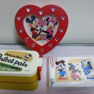 ミッキーマウス 時計と弁当箱セット