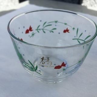 たち吉 ガラス茶碗(金魚)3個セット【新品】