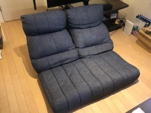 ニトリ 二人がけ独立リクライニング座椅子 (ばかくん) 札幌の椅子《座椅子》の中古あげます・譲ります|ジモティーで不用品の処分