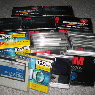 光磁気ディスク_MO-Disk.34枚+レンズクリーナー1枚.中古品.