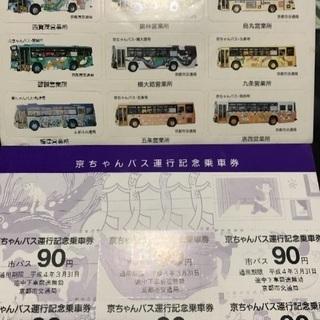【京都市バス レアグッズ】京ちゃんバス 運行記念乗車券