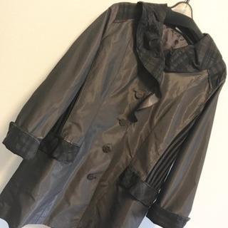 【新品】ロングコート ジャケット ジャケット チェック L M 茶 黒