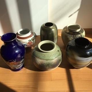 早い者勝ち!静岡県 袋井市 ほぼ未使用の花瓶6つ 九谷、信楽焼など