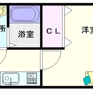 【ドミール桜川】3号タイプ!1Kタイプ!バイクが置けるってバイカ...