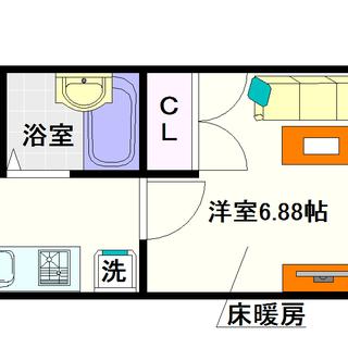 【桜川Zenshin,BLD】1Kタイプ!大通り沿いなので分かりや...