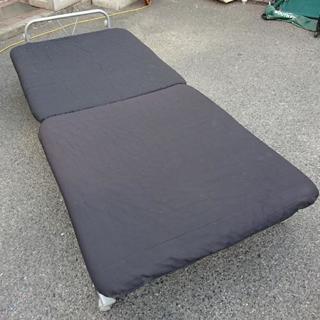 折りたたみベッド シングル ベッド 黒