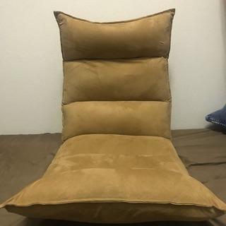 座椅子 スエード調 角度調整可能
