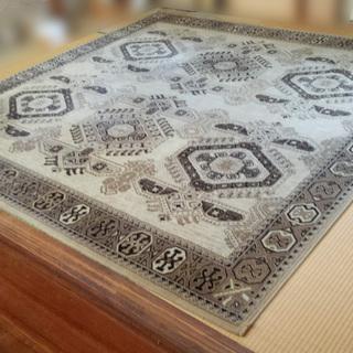 《姫路》(毛100%)ベルギー製☆絨毯☆w2560mm x2560mm