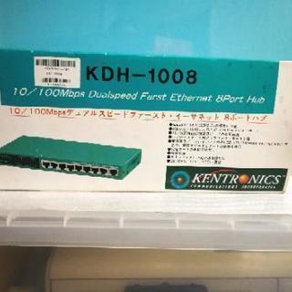 イーサネット 10/100Mbps 8ポートハブ ジャンク扱いで