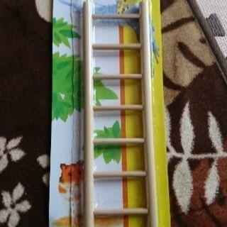 小鳥、小動物 木製7段ハシゴ 美品