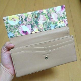 (お値下げ)ポールスミス 花柄デザイン 長財布 ピンク ベージュ