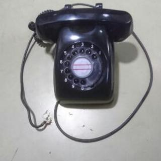 電話、黒電話オブジェ