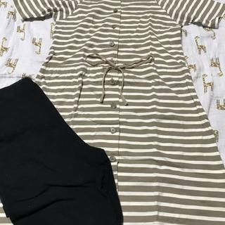 妊婦 出産 入院 授乳 パジャマ  半袖 サイズS