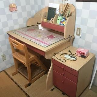 勉強机 キャビネット、椅子セット