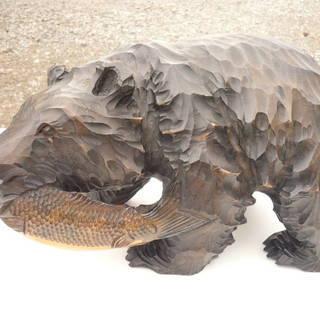 木彫りの熊 置物 木工