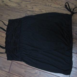 黒のキャミソール 丈長 Mサイズ