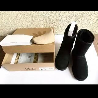 UGG黒  ムートンブーツ  サイズ6   23.0