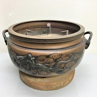 【完売御礼】銅製火鉢 灰入り アンティーク