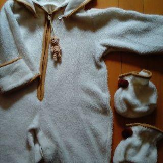 値下げ❢乳幼児用 フード付きカバーオールロンパース&ルームシューズ