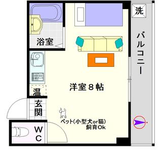 【タウンコート桜川】5号タイプ!1Rタイプ!ペットOKの物件ですよ☆