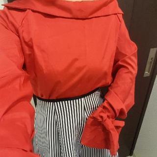 X'masやハロウィンに!ドレスシャツ レッド