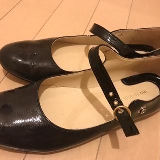 MODE KAORI★靴★24.5cm★エナメルパンプス★中古★...