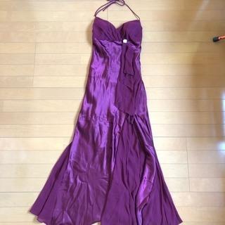 ボルドーロングドレス