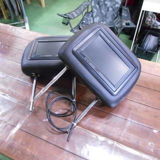 【J-909】 ヘッドレストモニター 2個セット 付属品あり L...
